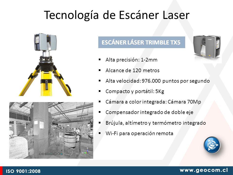 Alta precisión: 1-2mm Alcance de 120 metros Alta velocidad: 976.000 puntos por segundo Compacto y portátil: 5Kg Cámara a color integrada: Cámara 70Mp