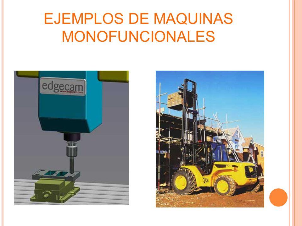 EJEMPLOS DE MAQUINAS MONOFUNCIONALES