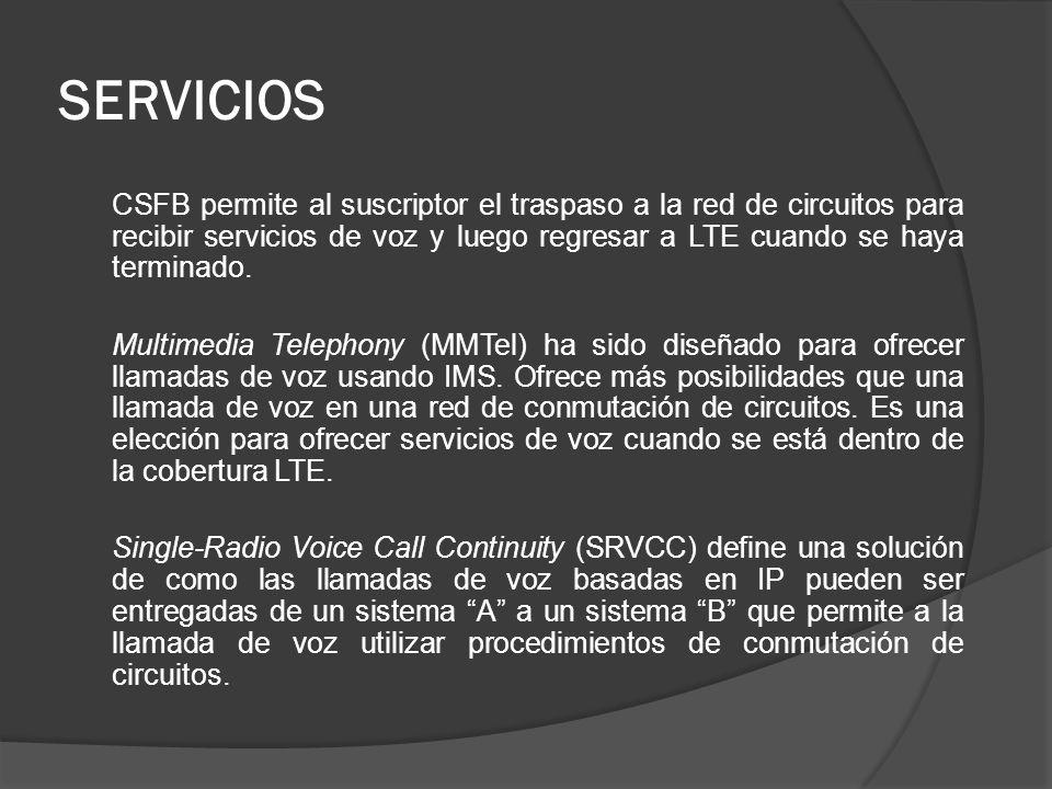 CSFB permite al suscriptor el traspaso a la red de circuitos para recibir servicios de voz y luego regresar a LTE cuando se haya terminado. Multimedia