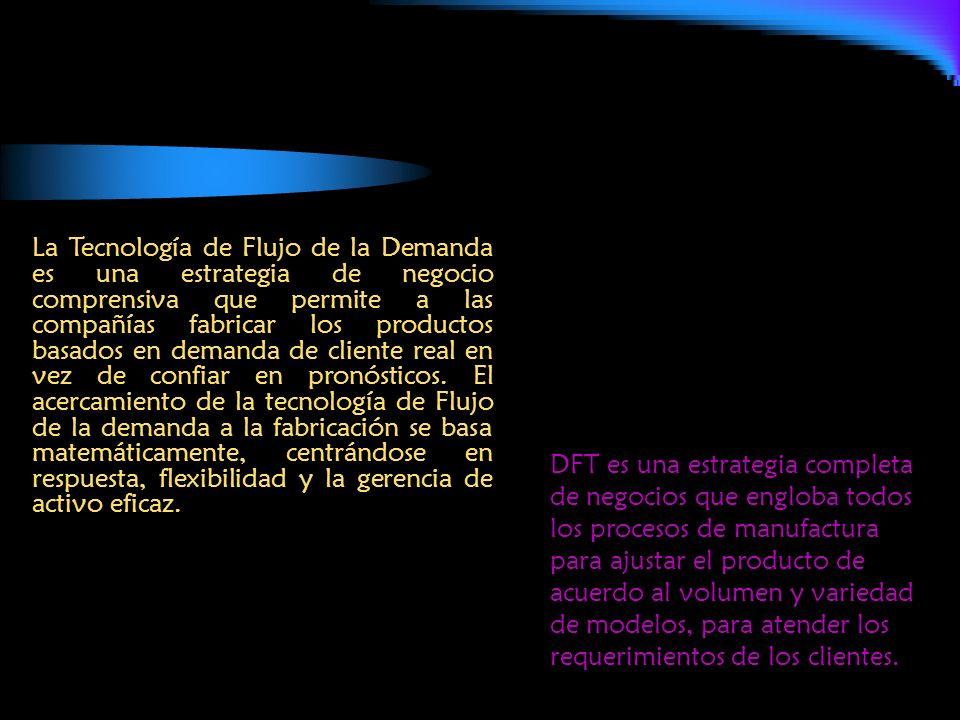 La Tecnología de Flujo de la Demanda es una estrategia de negocio comprensiva que permite a las compañías fabricar los productos basados en demanda de