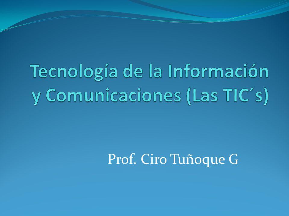Prof. Ciro Tuñoque G