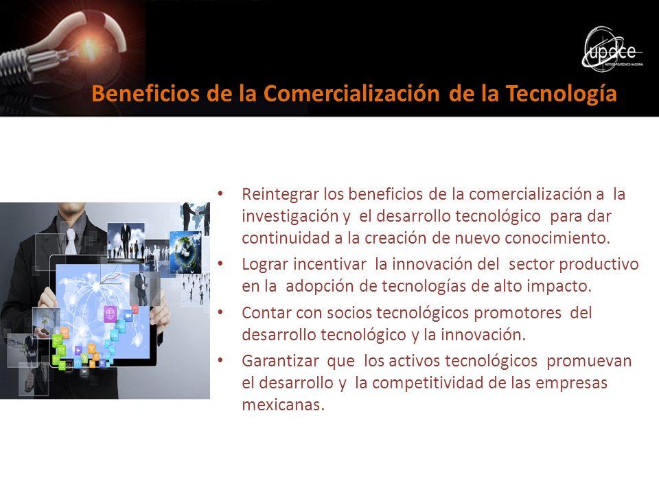 Reintegrar los beneficios de la comercialización a la investigación y el desarrollo tecnológico para dar continuidad a la creación de nuevo conocimien
