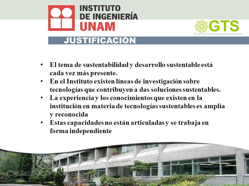 Edificios y vivienda Eficiencia energética Indicadores energéticos por usos finales Automatización: Edificios inteligente y domótica Diseño bioclimático Áreas verdes GTS Grupo de Tecnología Sustentable