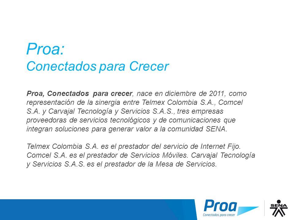 Proa: Conectados para Crecer Proa Proa, Conectados para crecer, nace en diciembre de 2011, como representación de la sinergia entre Telmex Colombia S.