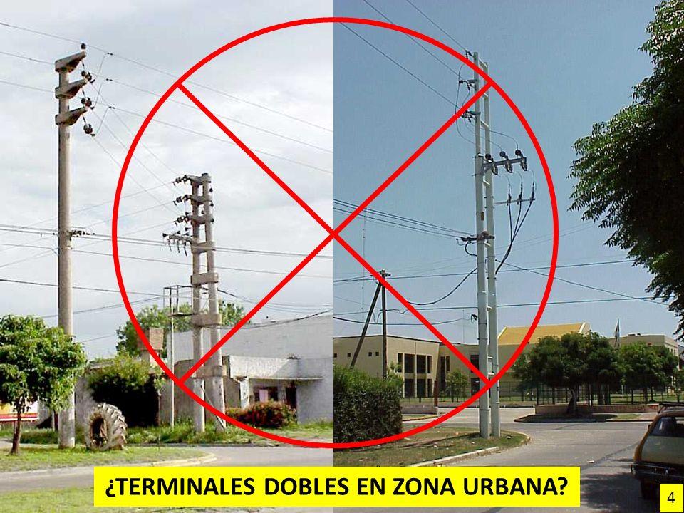 ¿TERMINALES DOBLES EN ZONA URBANA? 4