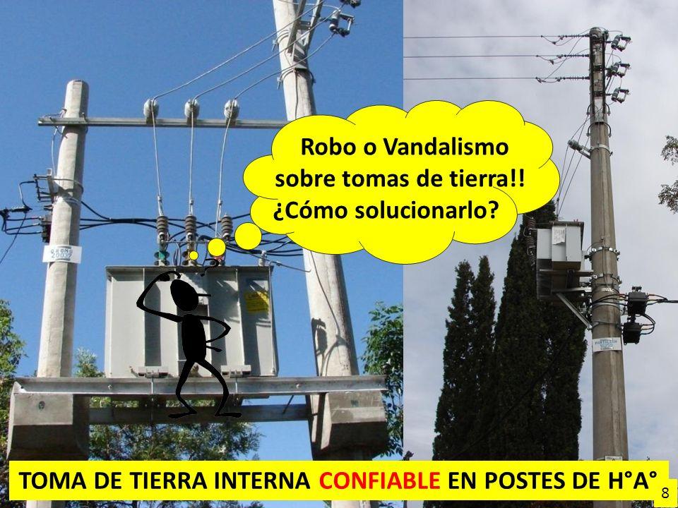 TOMA DE TIERRA INTERNA CONFIABLE EN POSTES DE H°A° Robo o Vandalismo sobre tomas de tierra!! ¿Cómo solucionarlo? 8