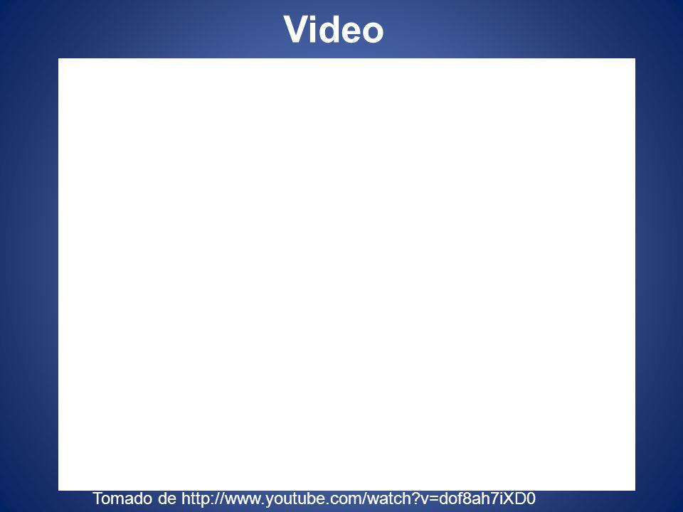 Video Tomado de http://www.youtube.com/watch?v=dof8ah7iXD0