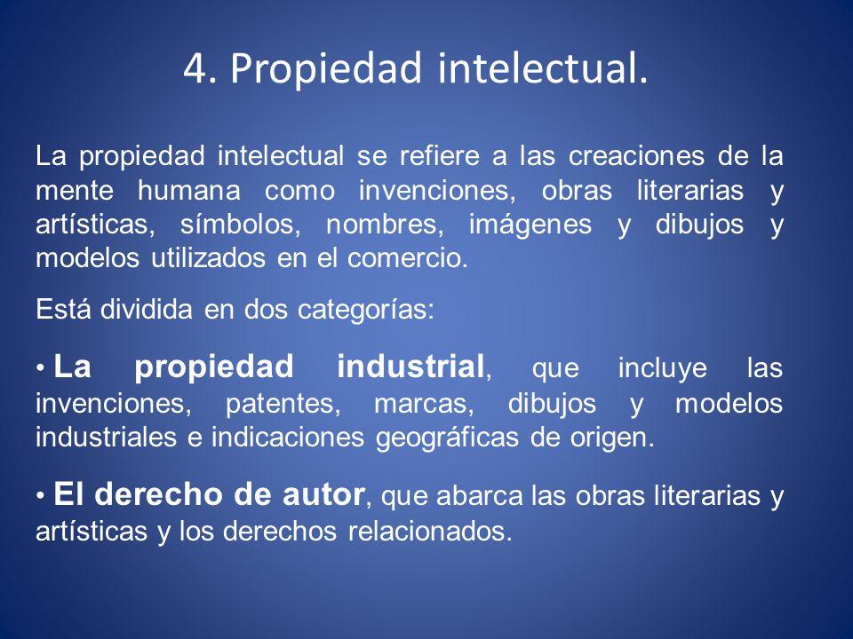 La propiedad intelectual se refiere a las creaciones de la mente humana como invenciones, obras literarias y artísticas, símbolos, nombres, imágenes y
