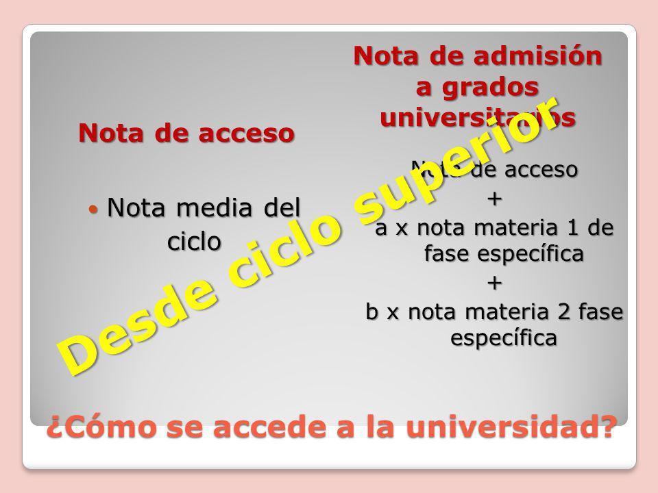 ¿Cómo se accede a la universidad.