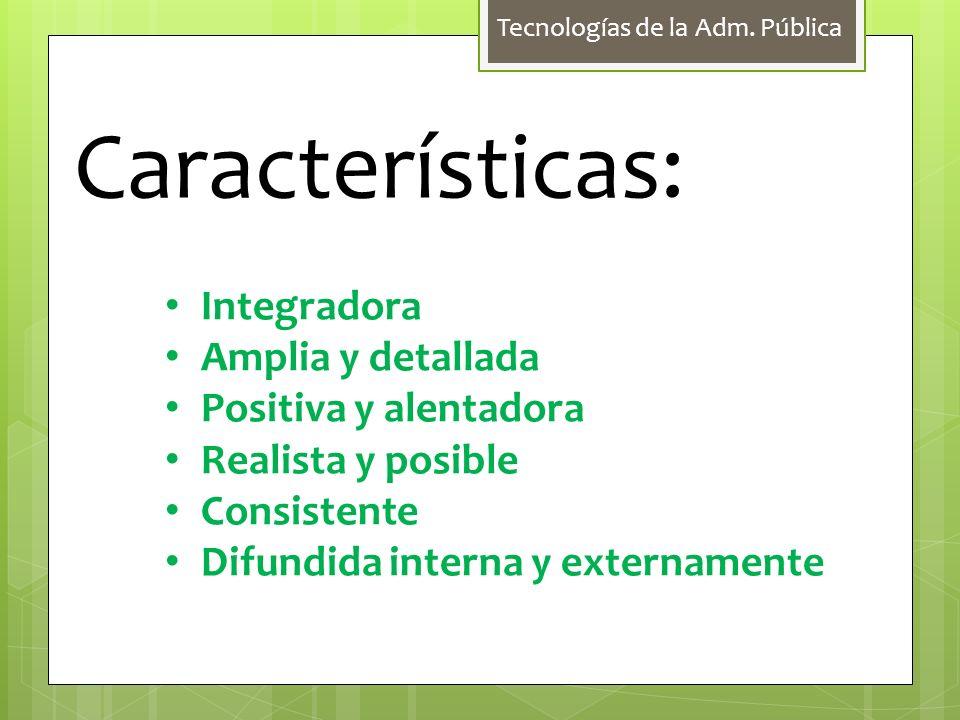 Tecnologías de la Adm.