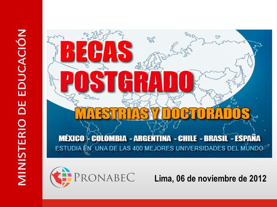 Creación del PRONABEC 13 febrero 2012
