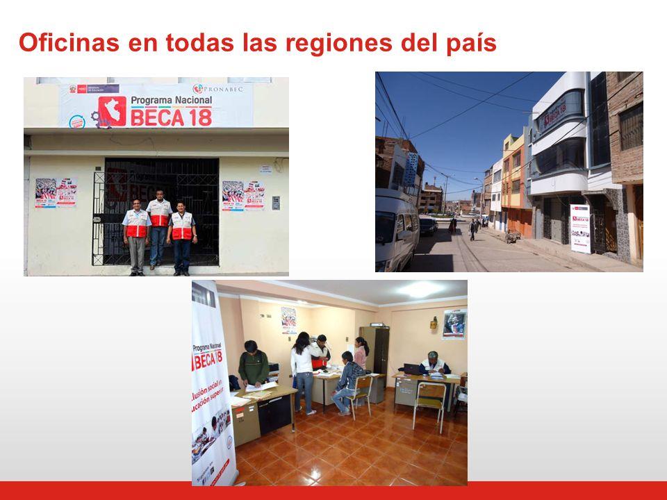 Oficinas en todas las regiones del país