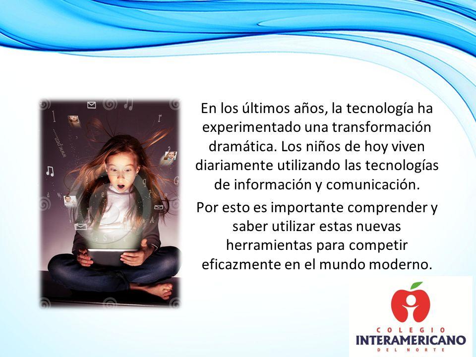 un programa de tecnología un ambiente digital de aprendizaje El Colegio Interamericano en respuesta a esta necesidad a desarrollado un programa de tecnología que ha dado inicio este ciclo escolar 2013-2014 y que tiene como principal objetivo proveer un ambiente digital de aprendizaje.