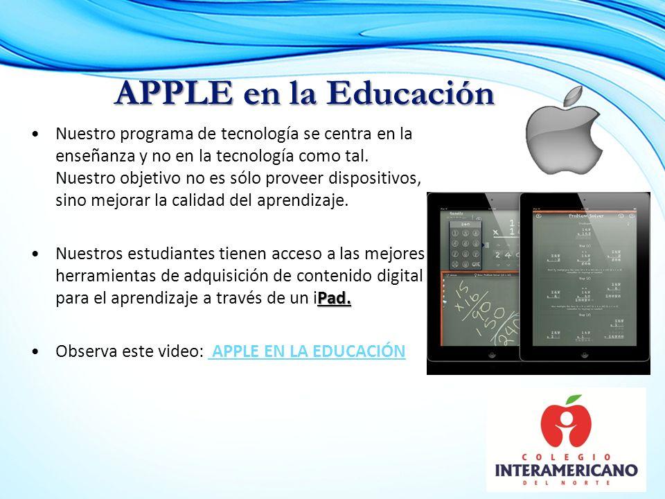 Nuestro programa de tecnología se centra en la enseñanza y no en la tecnología como tal.