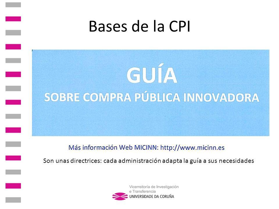 Fundamentos de derecho La ley de contratos del sector público de 2007 facilita la CPI.