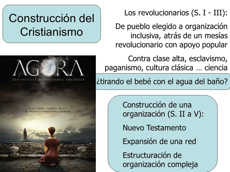 Construcción del Cristianismo Los revolucionarios (S. I - III): De pueblo elegido a organización inclusiva, atrás de un mesías revolucionario con apoy