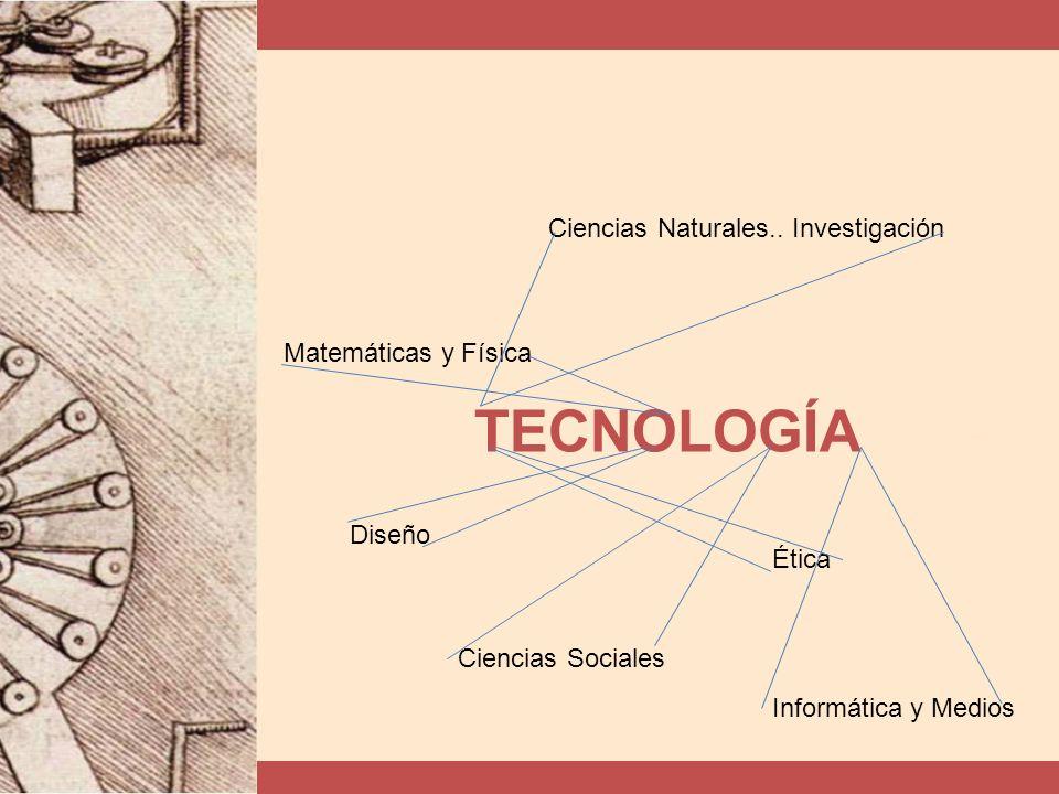 TECNOLOGÍA Ciencias Naturales.. Investigación Matemáticas y Física Diseño Ética Ciencias Sociales Informática y Medios