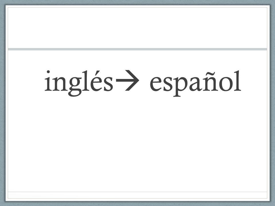 inglés español