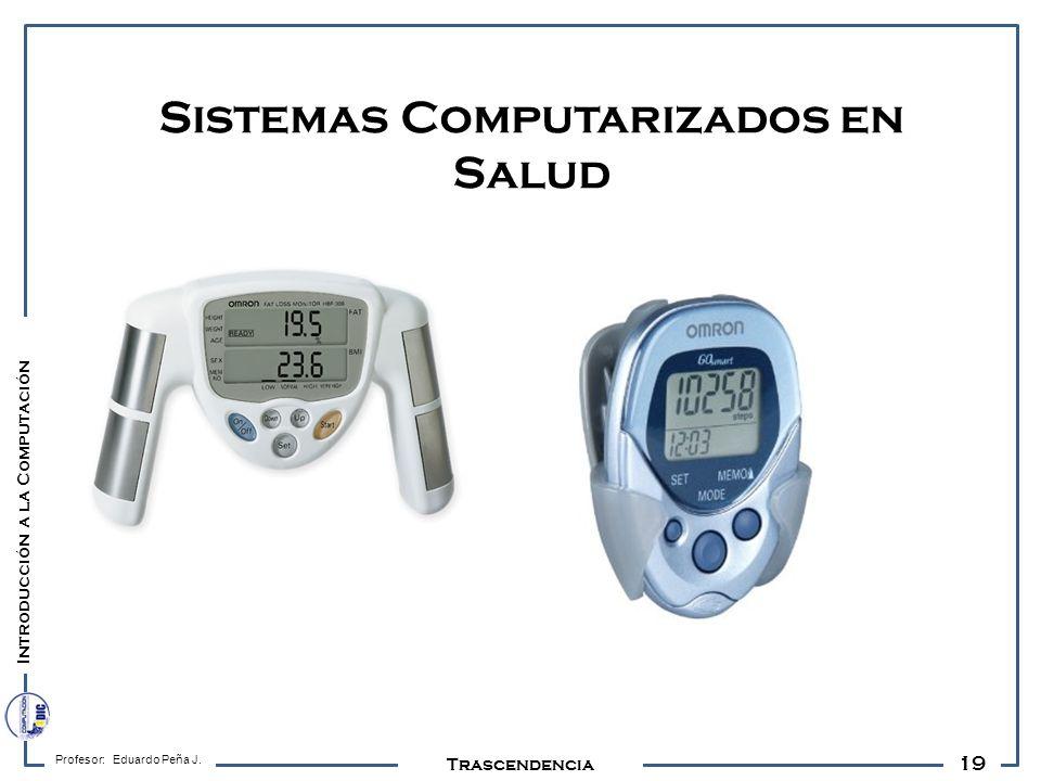 19 Profesor: Eduardo Peña J. Trascendencia Sistemas Computarizados en Salud Introducción a la Computación