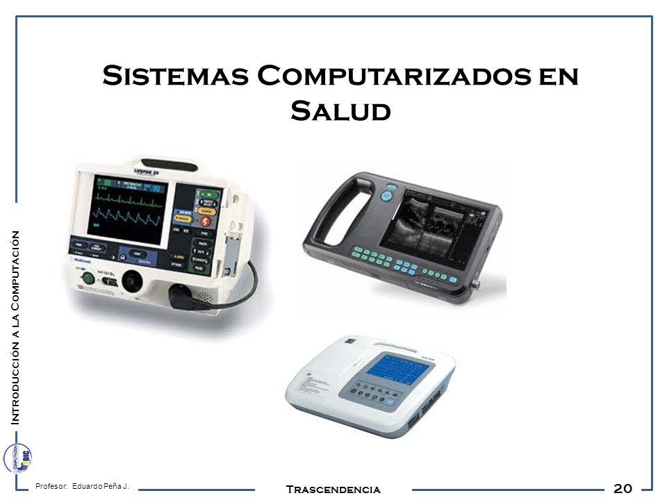 20 Profesor: Eduardo Peña J. Trascendencia Sistemas Computarizados en Salud Introducción a la Computación