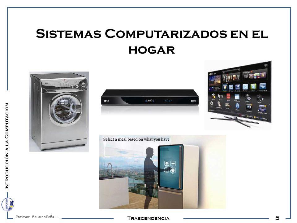 5 Profesor: Eduardo Peña J. Trascendencia Sistemas Computarizados en el hogar Introducción a la Computación
