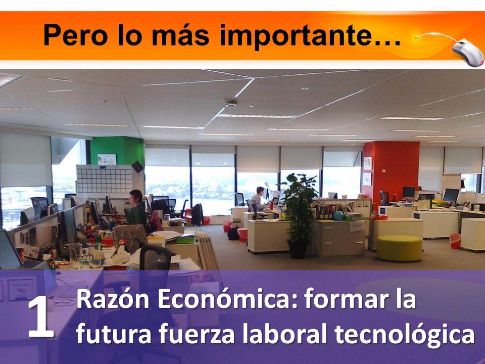 Pero lo más importante… Razón Económica: formar la futura fuerza laboral tecnológica 1