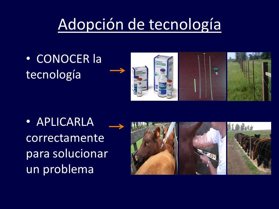Adopción de tecnología CONOCER la tecnología APLICARLA correctamente para solucionar un problema