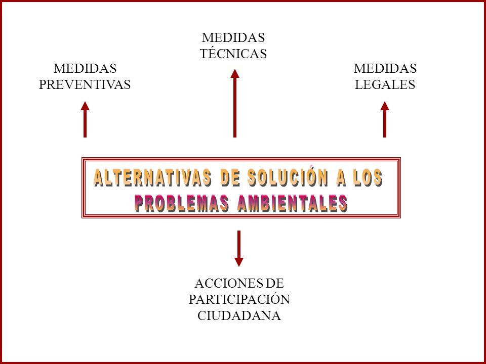 MEDIDAS PREVENTIVAS ACCIONES DE PARTICIPACIÓN CIUDADANA MEDIDAS LEGALES MEDIDAS TÉCNICAS