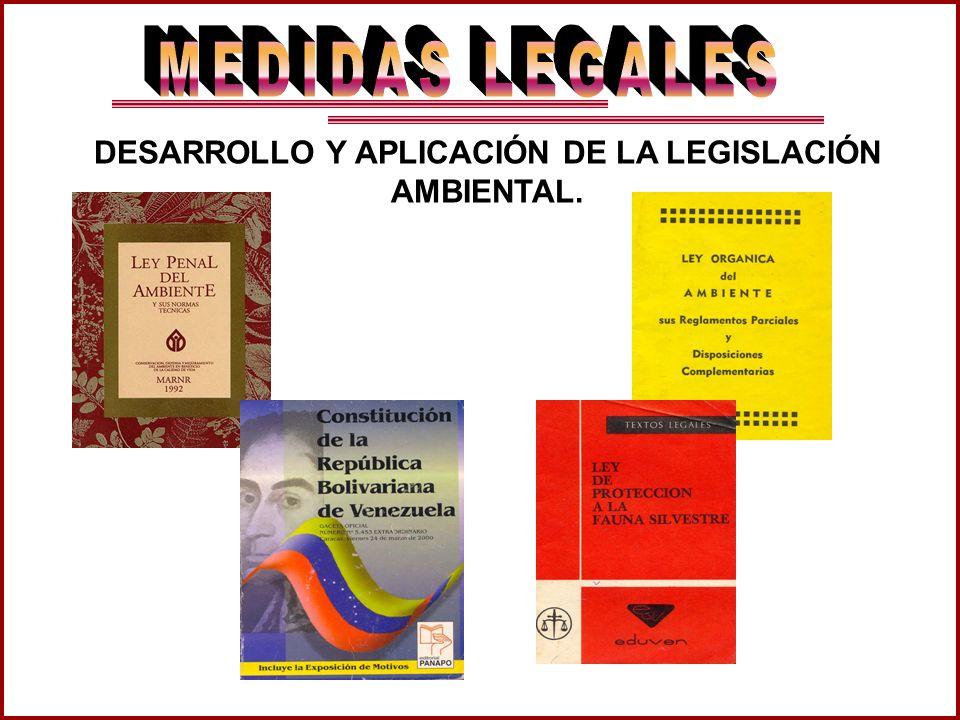 DESARROLLO Y APLICACIÓN DE LA LEGISLACIÓN AMBIENTAL.