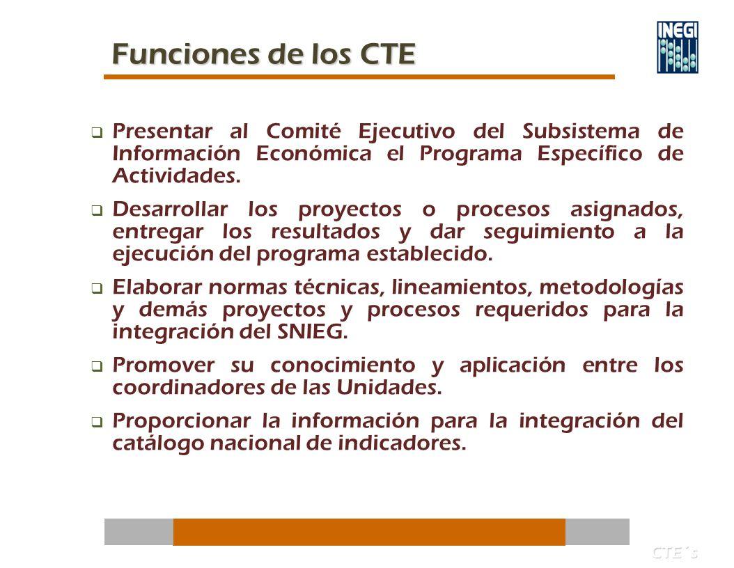 Presentar al Comité Ejecutivo del Subsistema de Información Económica el Programa Específico de Actividades.