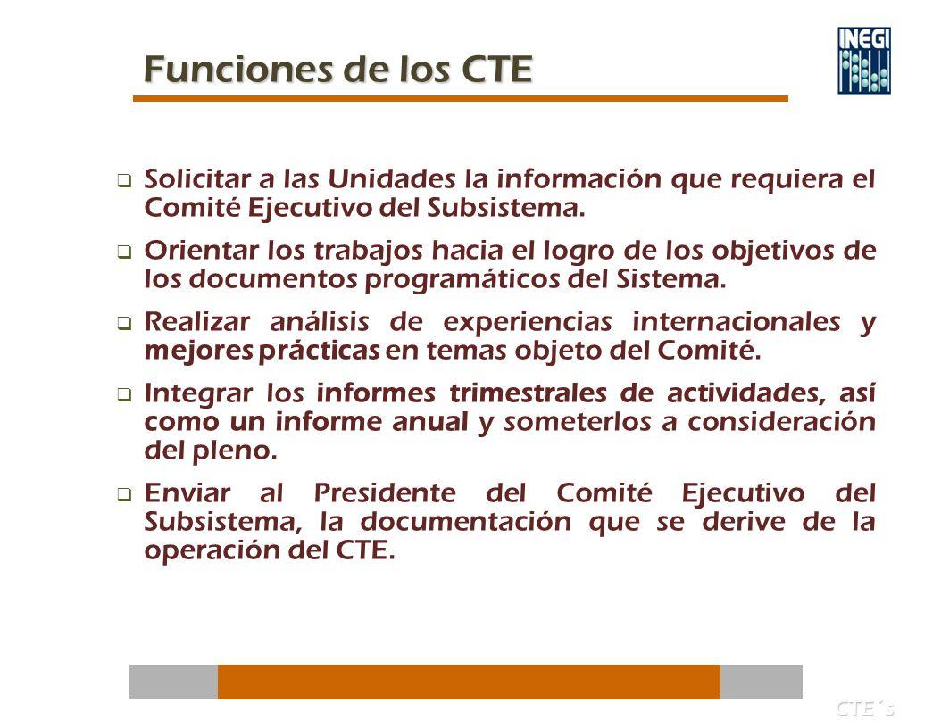 Solicitar a las Unidades la información que requiera el Comité Ejecutivo del Subsistema.