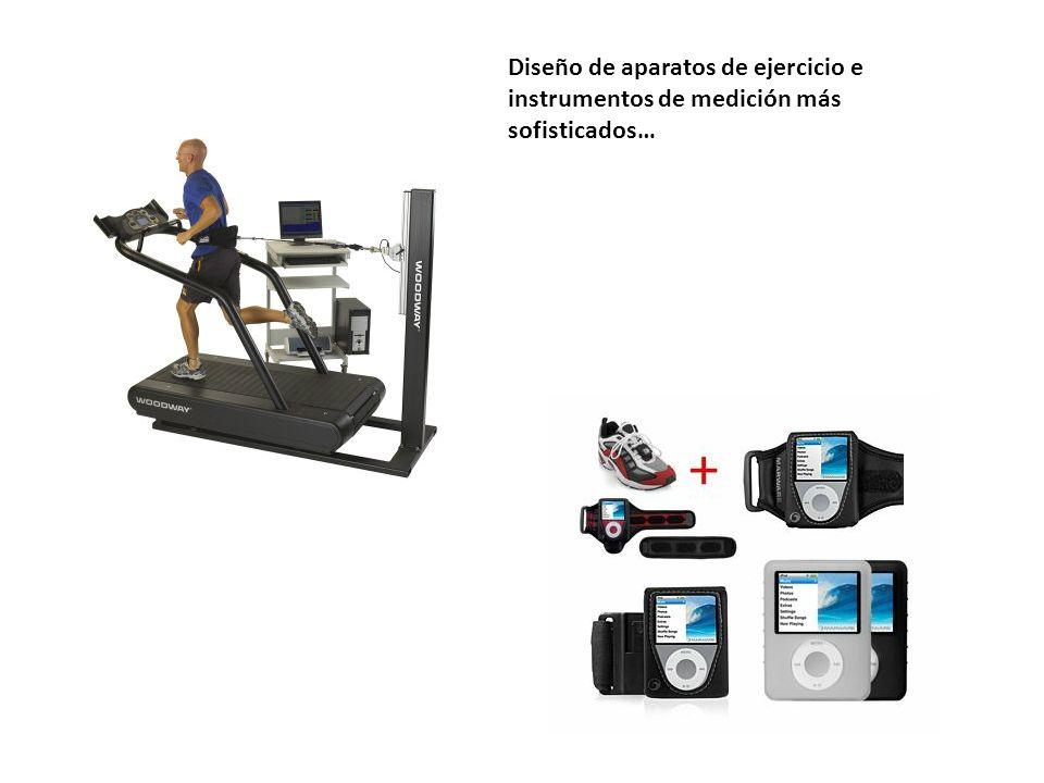 Diseño de aparatos de ejercicio e instrumentos de medición más sofisticados…