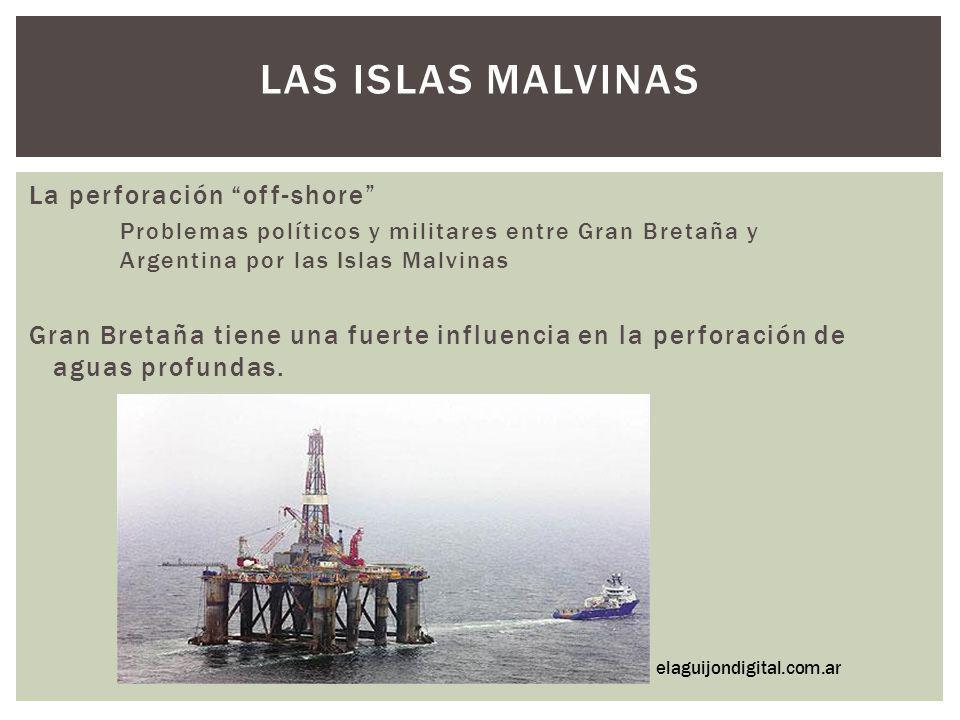 LAS ISLAS MALVINAS La perforación off-shore Problemas políticos y militares entre Gran Bretaña y Argentina por las Islas Malvinas Gran Bretaña tiene u
