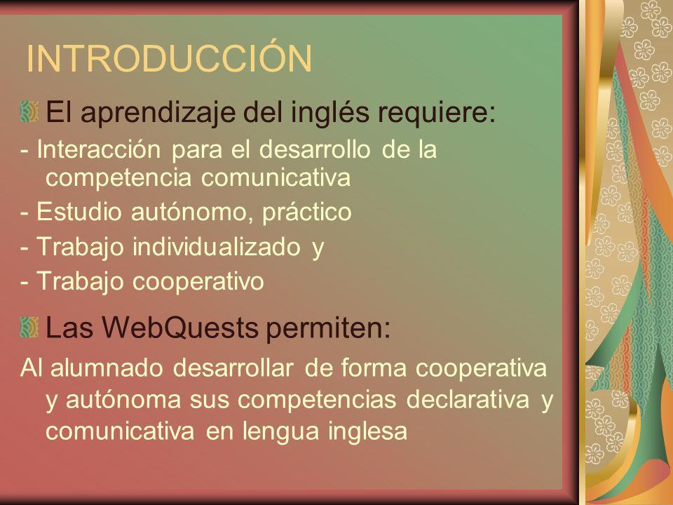 INTRODUCCIÓN El aprendizaje del inglés requiere: - Interacción para el desarrollo de la competencia comunicativa - Estudio autónomo, práctico - Trabaj