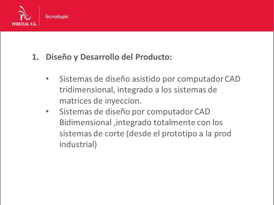 Tecnología 1.Diseño y Desarrollo del Producto: Sistemas de diseño asistido por computador CAD tridimensional, integrado a los sistemas de matrices de