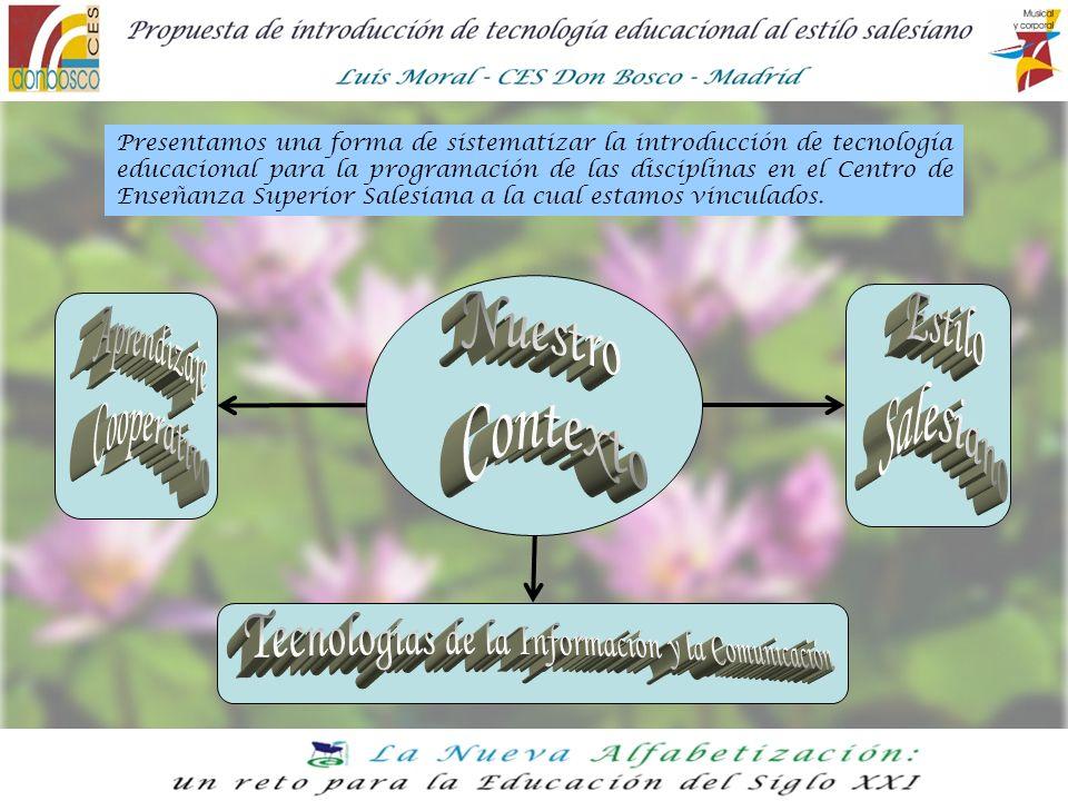 Presentamos una forma de sistematizar la introducción de tecnología educacional para la programación de las disciplinas en el Centro de Enseñanza Supe