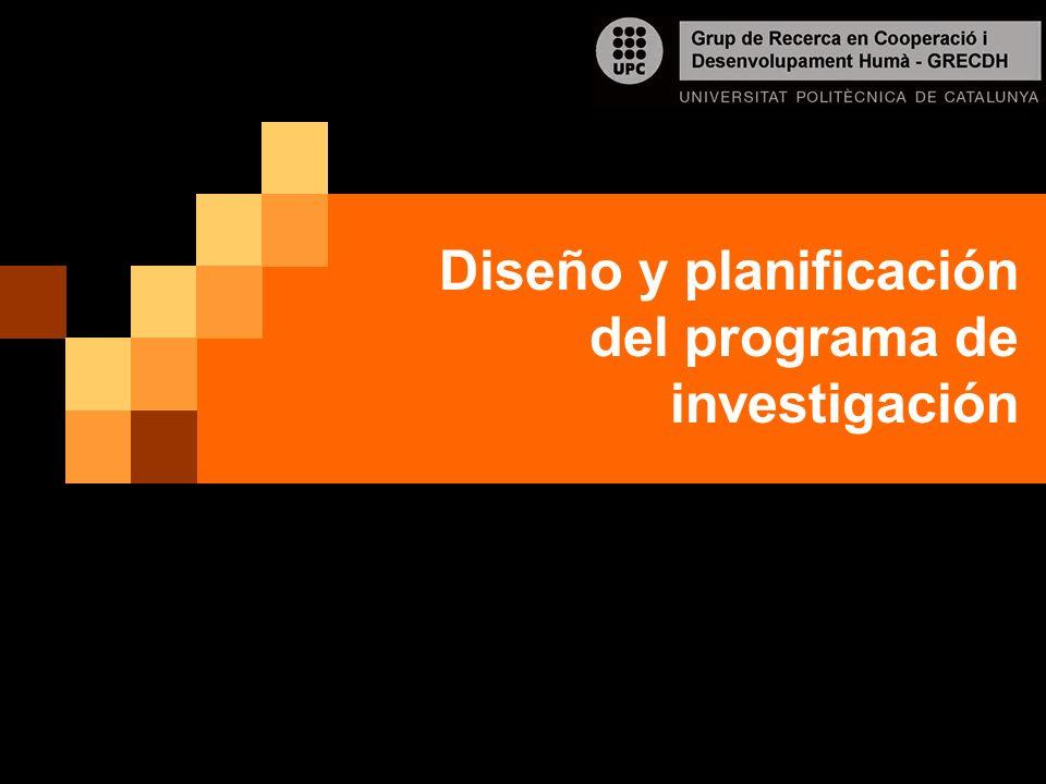Diseño y planificación del programa de investigación
