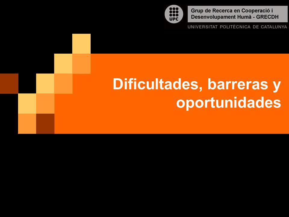 Dificultades, barreras y oportunidades