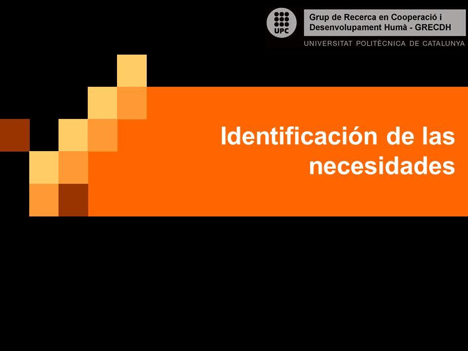 Identificación de las necesidades