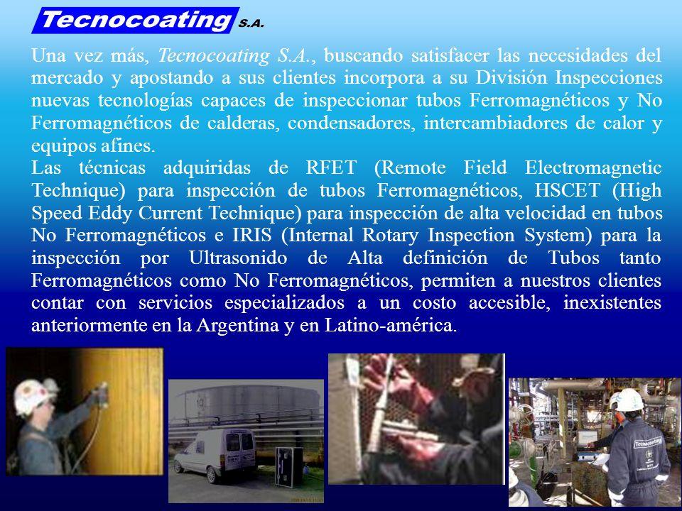 Dado el creciente éxito de nuestros Servicios y Tecnologías adquiridas Tecnocoating S.A.