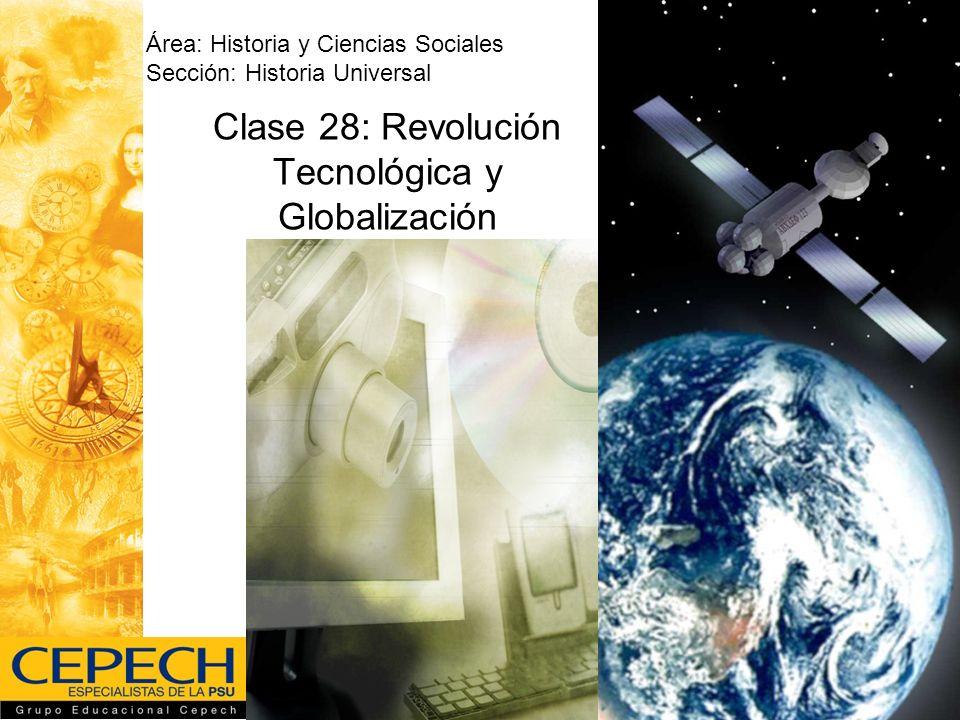 Clase 28: Revolución Tecnológica y Globalización Área: Historia y Ciencias Sociales Sección: Historia Universal