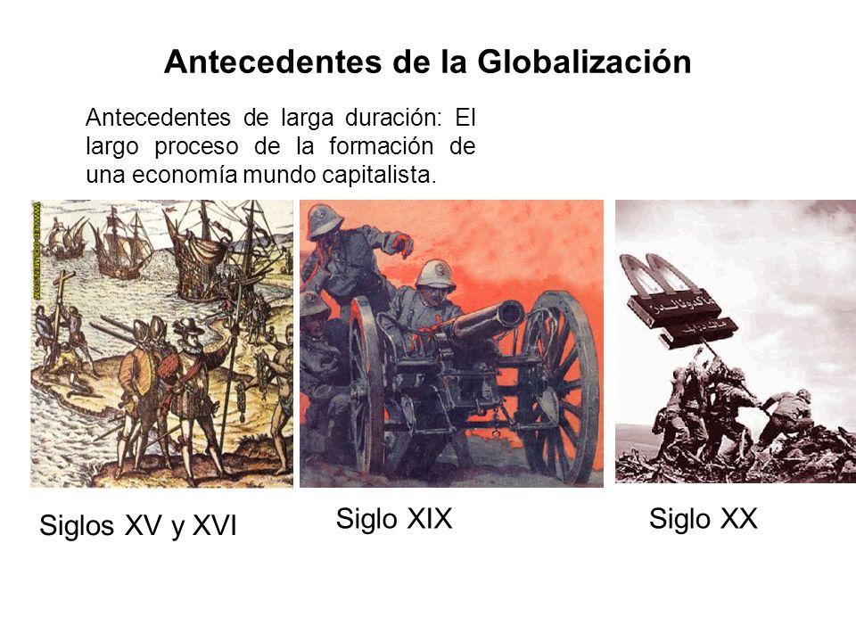 Antecedentes de la Globalización Antecedentes de larga duración: El largo proceso de la formación de una economía mundo capitalista. Siglos XV y XVI S