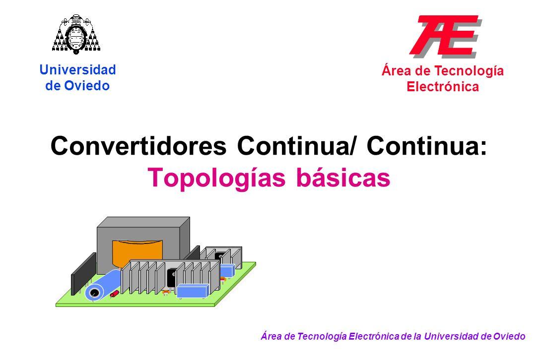 Convertidores Continua/ Continua: Topologías básicas Universidad de Oviedo Área de Tecnología Electrónica Área de Tecnología Electrónica de la Univers