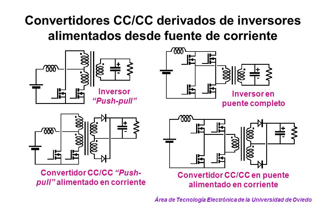 Convertidores CC/CC derivados de inversores alimentados desde fuente de corriente Inversor Push-pull Inversor en puente completo Convertidor CC/CC Pus