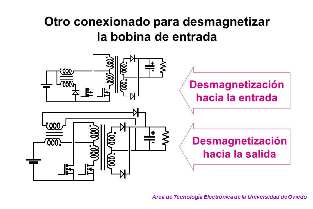 Otro conexionado para desmagnetizar la bobina de entrada Desmagnetización hacia la entrada Desmagnetización hacia la salida Área de Tecnología Electró