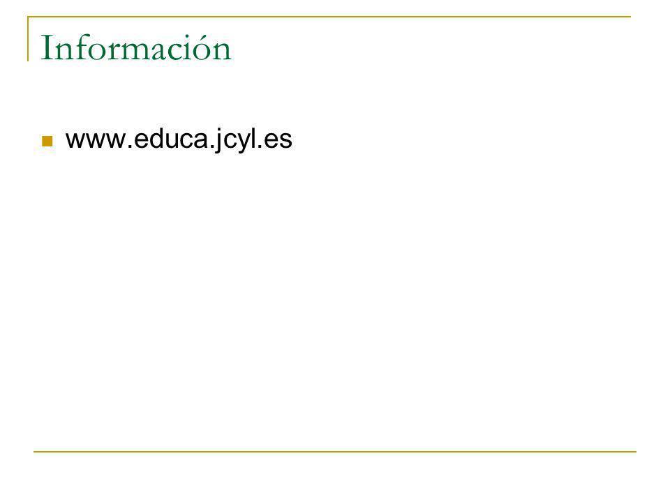 Información www.educa.jcyl.es