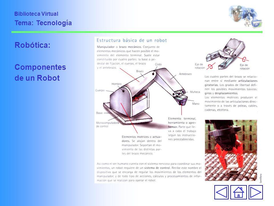 Robótica: Componentes de un Robot Biblioteca Virtual Tema: Tecnología