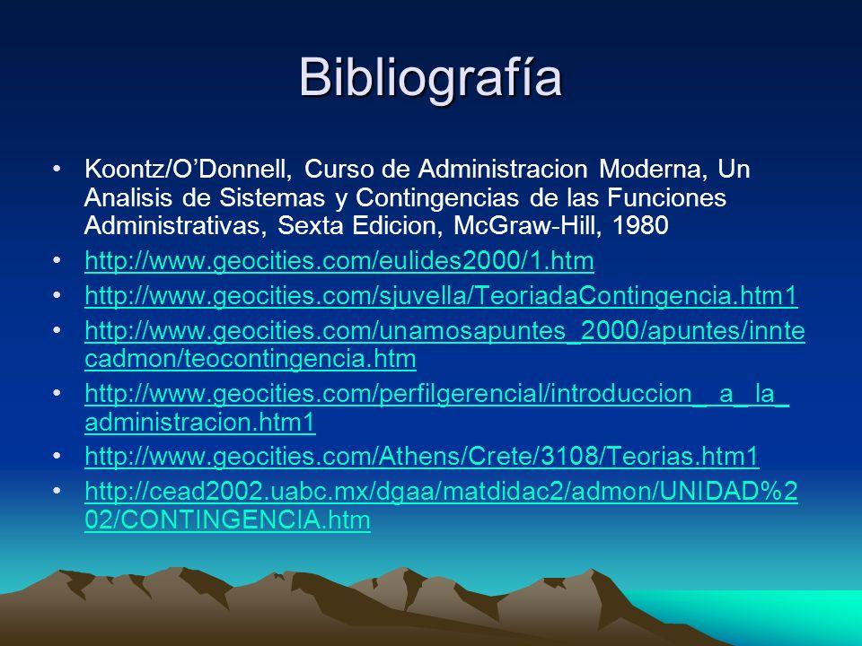 Bibliografía Koontz/ODonnell, Curso de Administracion Moderna, Un Analisis de Sistemas y Contingencias de las Funciones Administrativas, Sexta Edicion
