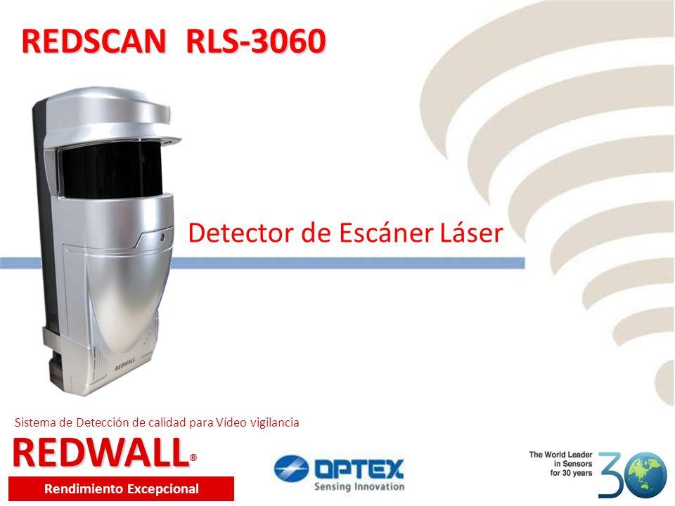 REDWALL REDWALL ® Rendimiento Excepcional Sistema de Detección de calidad para Vídeo vigilancia REDSCAN RLS-3060 Detector de Escáner Láser