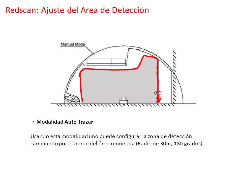 Modalidad Auto Trazar Usando esta modalidad uno puede configurar la zona de detección caminando por el borde del área requerida (Radio de 30m, 180 gra